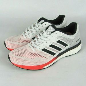 New Adidas Adizero Boston 7 White Red US 8